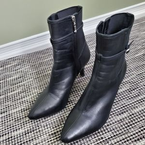 Rockport Black Leather Ankle Boots Size 8